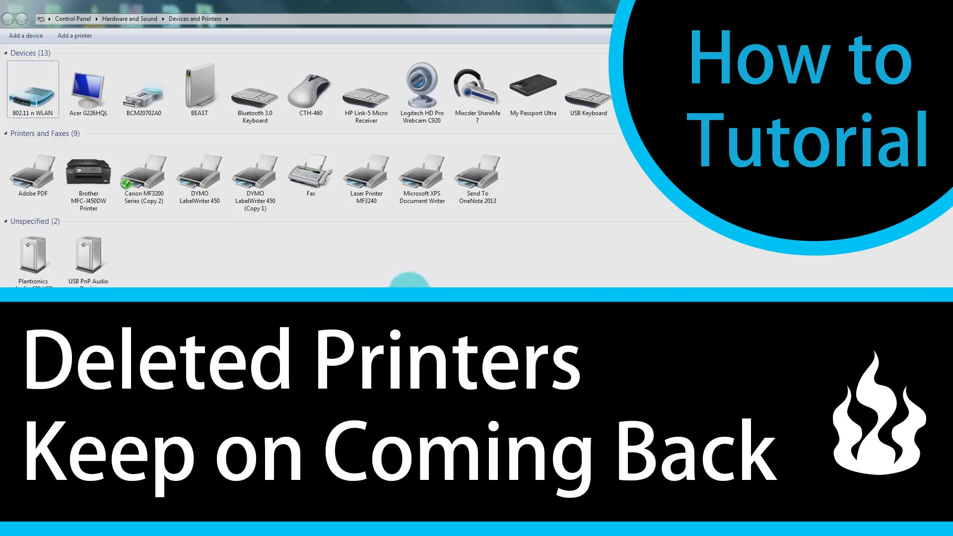 Deleted Printers Keep on Coming Back! How To Permanently Delete Printers