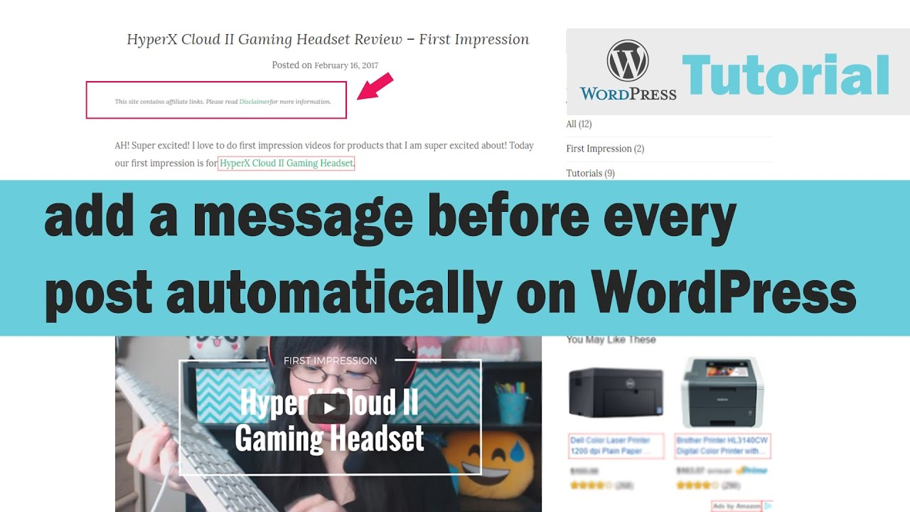 How to Add a Disclaimer Message on Every Post Automatically on WordPress